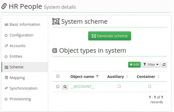 Generate attributes scheme